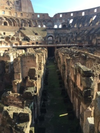 The basement of the Colosseum, Rome, Lazio, Italy