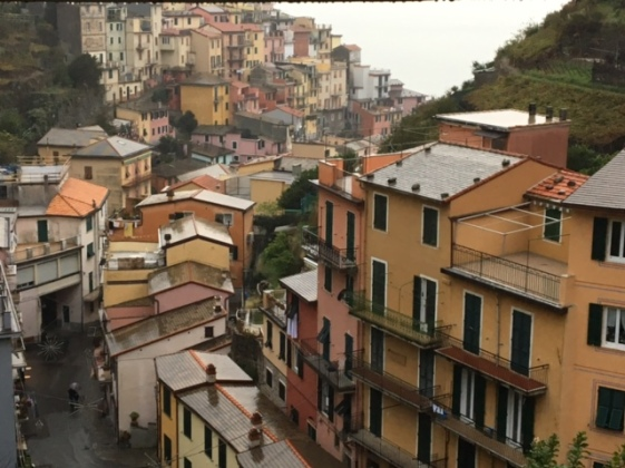 View from our window in the Cinque Terre. Manarola, Liguria, Italy.