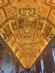 This was the ceiling in the room before Sistine Chapel. Quite eloquent in its own right. Vatican City.
